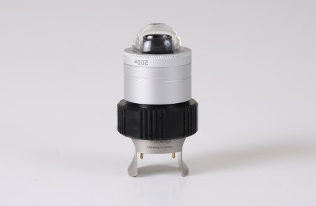 200x lens with LED light and fluid contact adapter